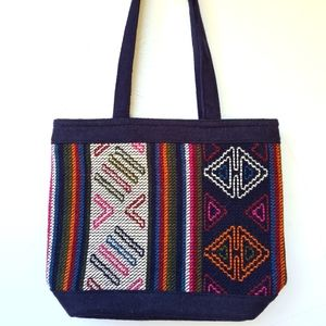 Handcrafted Stitched Woven Woollen Large Tote Bag or Shopping Bag